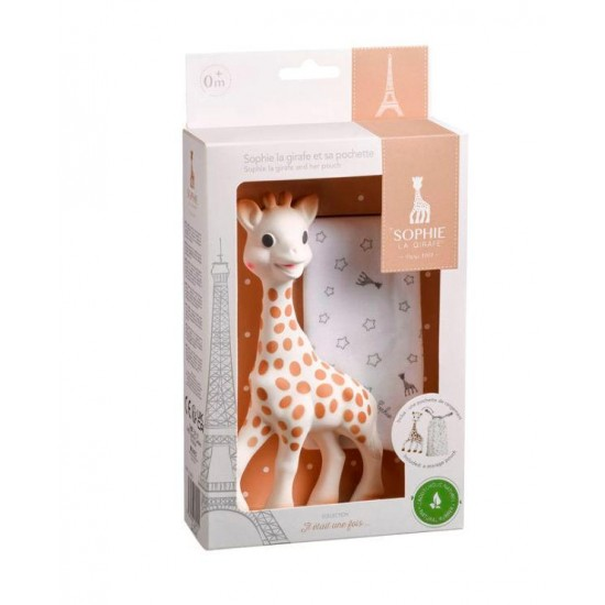 Sophie the giraffe is the baby's first toy that stimulates all his senses