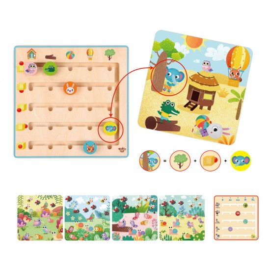 Wooden, toy, where the animals go